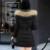 2016 Nova Mulheres Inverno Quente Com Capuz Jaqueta de Manga Longa Com Zíper bolsos Gola De Pele Casaco Fino Espessamento Para Baixo Casaco Longo Casaco Outwear