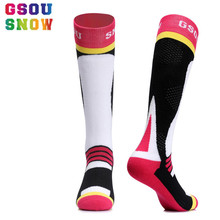 Gsou Snow Ski Socks Winter Cycling Socks Men and Women Outdoor Running Cycling Snowboarding Skiing Sport Socks Thermal Warmth