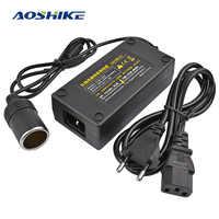 AOSHIKE Car Inverter AC 100V 220V to DC 12V Car Cigarette Lighter Converter Power Adapter Voltage Transformer Socket EU Plug