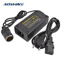 Aoshike Xe Inverter AC 100V 220V Ra 12V Thuốc Lá Trên Xe Ô Tô Bộ Chuyển Đổi Nguồn Điện Adapter Biến Đổi Điện Áp Ổ Cắm Phích Cắm Châu Âu