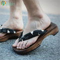TAYUN Man flip flops,anime cosplay costumes,2016 Summer Sandals Japanese  Geta authentic candlenut Clogs Sandals Flat