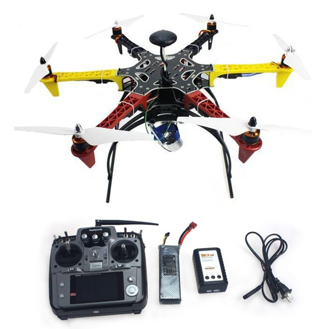 F05114-AP 6-axis Aircraft Hexacopter Drone RTF with AT10 Remote Control 550 Frame APM2.8 Flight Controller Aerial FPV PTZ