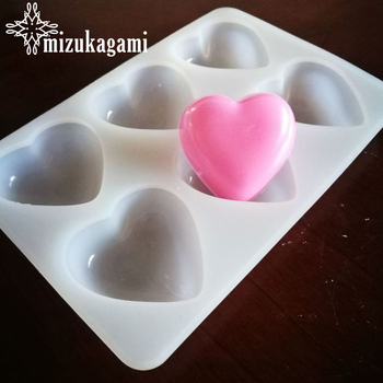 1pcs UV Resin Jewelry Liquid Silicone Mold Love Heart Charms Molds For DIY Soap Candle