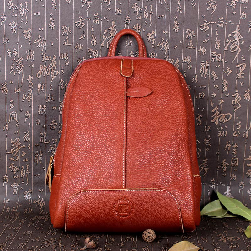 AETOO First layer of leather men and women shoulder bag handmade leather fashion wind backpack