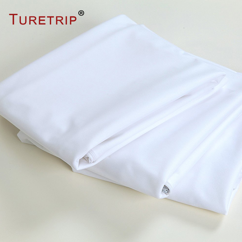 Turetrip 1PC 50X70CM Cover For Pillow Waterproof Pillow ProtectorAnti Mites BedBug Proof Zipper Pillow Cover Allergy Pilow Case