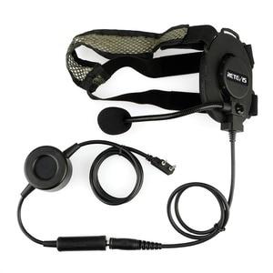 Image 2 - Casque tactique rechape EH060K casque militaire Wakie Talkie Airsoft jeu Microphone pour Kenwood ForBaofeng UV 5R/UV82 RT1/RT81