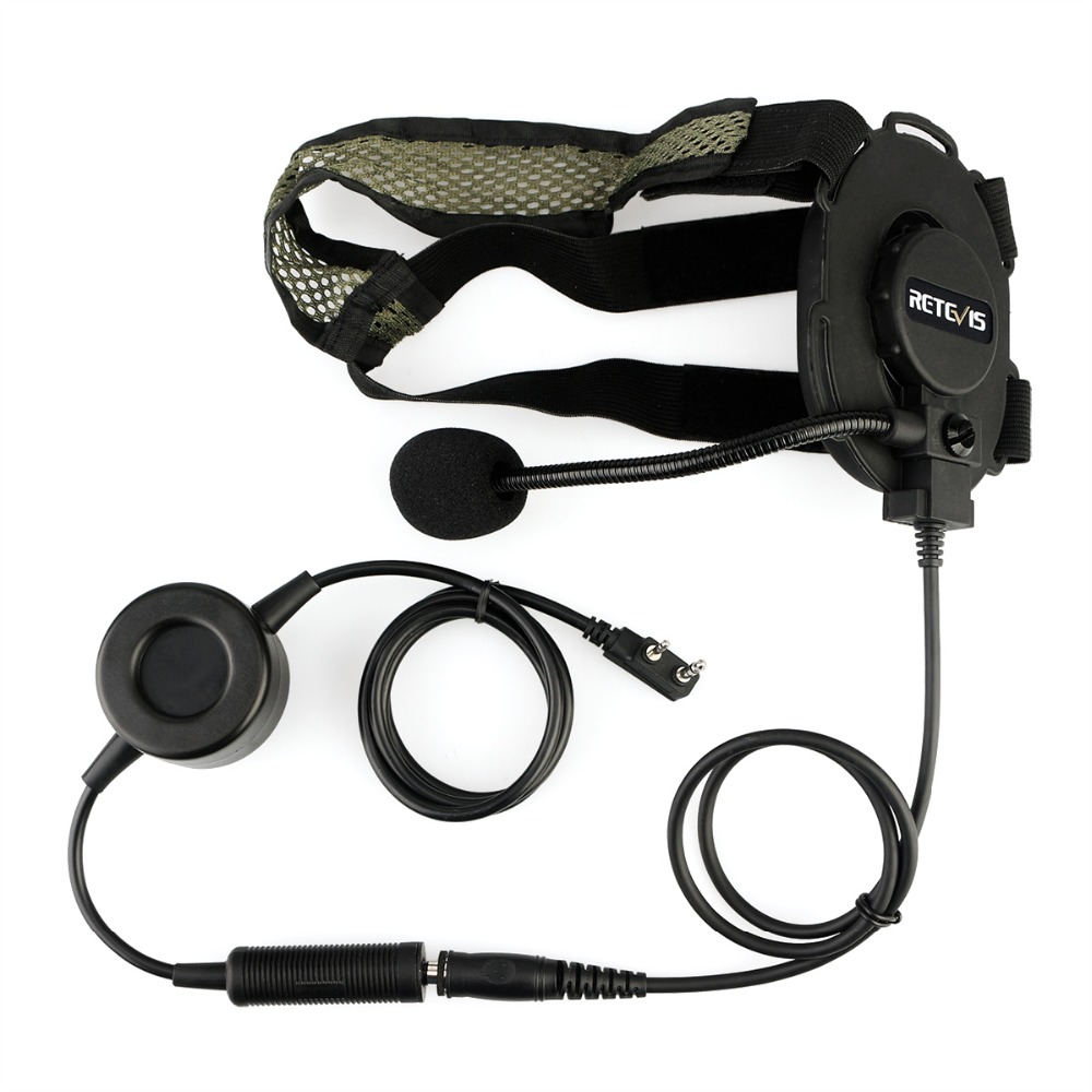 Image 2 - RETEVIS EH060K Tactical Headset Military Wakie Talkie Headset Flexible Microphone For Kenwood Baofeng UV 5R/UV82 RT1/RT81/RT50-in Walkie Talkie from Cellphones & Telecommunications
