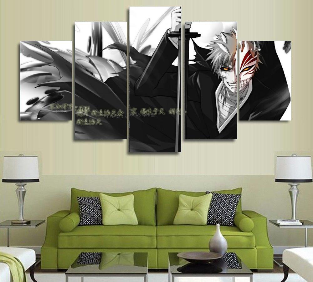 Bleach Ichigo Kurosaki 5 Pieces Paintings Canvas Poster