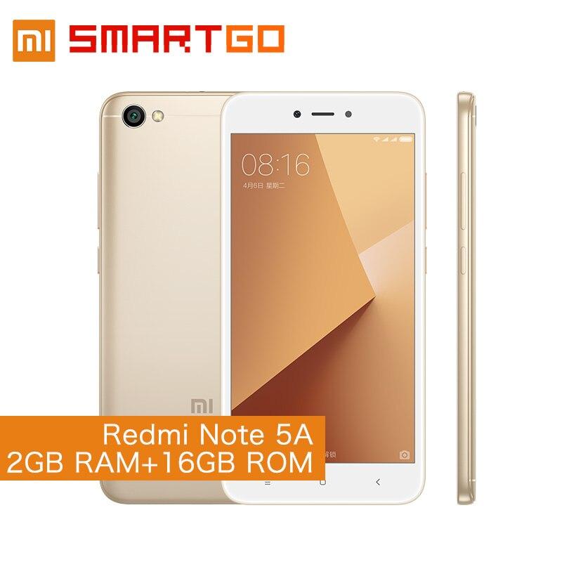 Xiaomi Redmi Note 5A 2GB RAM 16GB ROM Cellphone Note 5 A Snapdragon 425 Quad Core