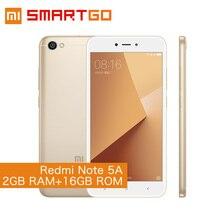 Xiaomi Redmi Note 5A 2 ГБ Оперативная память 16 ГБ Встроенная память телефона Примечание 5 Snapdragon 425 4 ядра Процессор 5.5 дюймов 13.0MP телефон