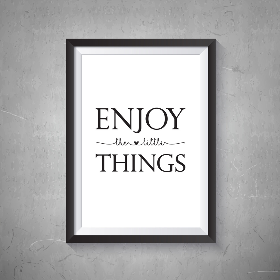 The Little Canvas: Enjoy The Little Things Nursery Canvas Painting Black And