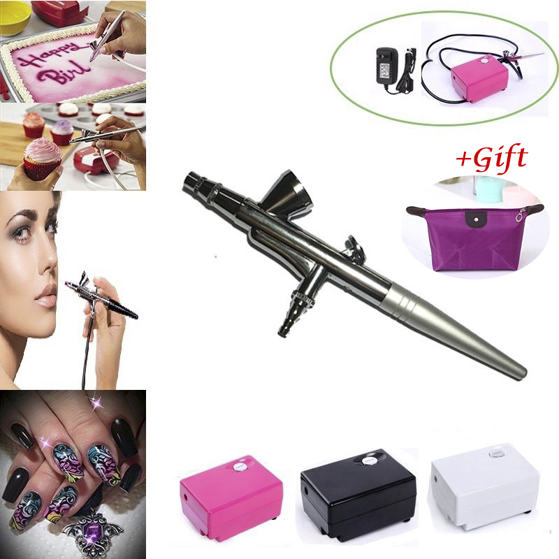 Resale Dotting tool Air Brush Compressor Airbrush 0.4mm Needle Art Kit nail tools Body Paint Makeup Craft 1Set+Gif Free shippingResale Dotting tool Air Brush Compressor Airbrush 0.4mm Needle Art Kit nail tools Body Paint Makeup Craft 1Set+Gif Free shipping