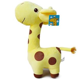 Stuffed animal plush 55cm cute yellow giraffe toy doll high quality gift present w1062