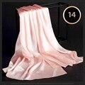 100% Шелкового Атласа Длинный Шарф 55X180 см Чистый Шелк Тутового Равнина цвет Шелковый Шарф Завод Прямые Интернет-Магазин 14 Baby Pink цвет