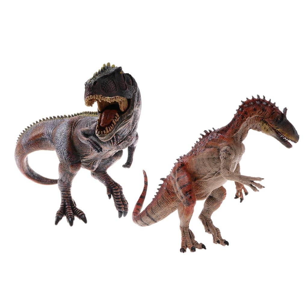 2 Pieces Simulation Jurassic World Animal Dinosaur Model Action Figures Kids Educational Toy Gifts pvc figure doll model toy solid jurassic world dinosaur toy simulation model children animal toy boy gift tyrannosaur 5 pcs set