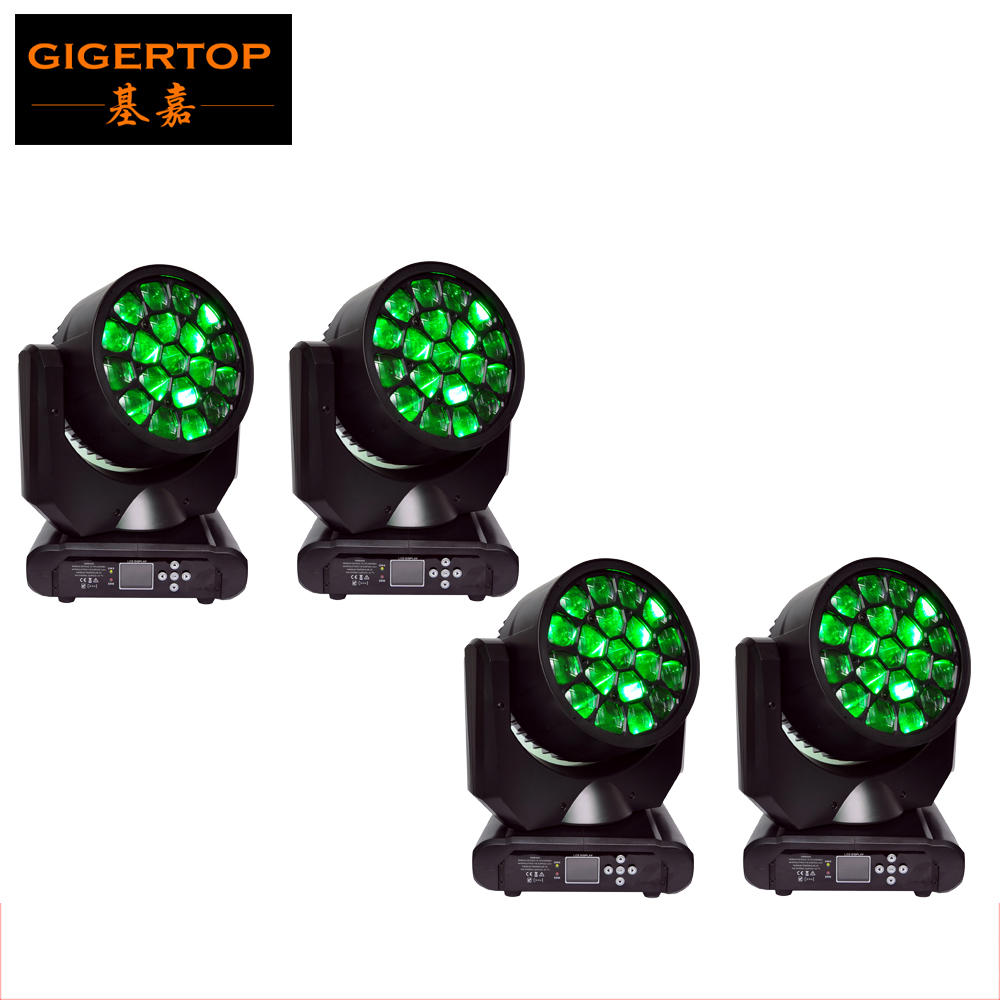 Free shipping 4XLOT 300W Empire Hawkeye Innovation Ultra-compact Strong Beam Light 19pcs 12W RGBW 4IN1 DMX Rotating Lamp Board