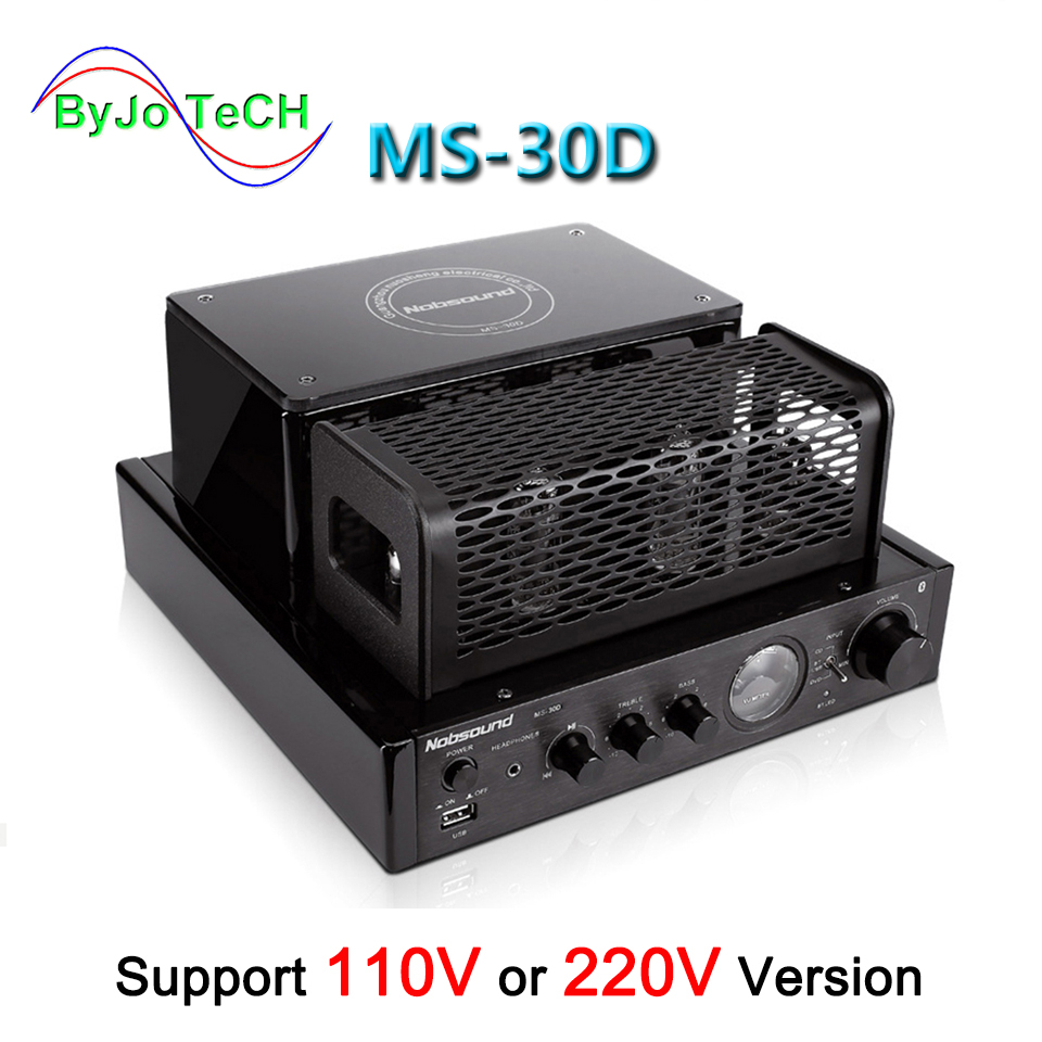 Nobsound MS-30D MKII Bluetooth amplifier tube Amplifier support 110V 220V amplifier MS-10D MKII upgrade amplificador цена 2017