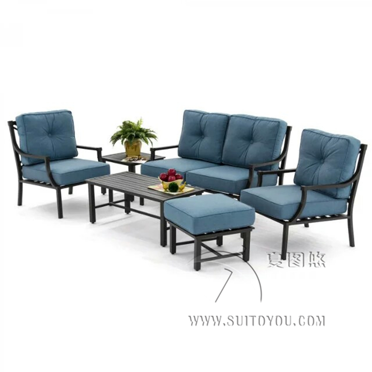 Patio Furniture Chat Set 6 Piece Cast Aluminum Patio Furniture Conversation Set