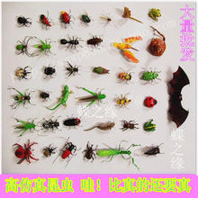 10pcs A Lot High Artificial Clay Magnetic Refrigerator Stickers Animal Decoration Bee Caterpiller Frog