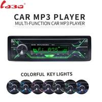 LaBo Car Radio Stereo Player Bluetooth Phone AUX IN MP3 FM USB 1 Din Remote Control