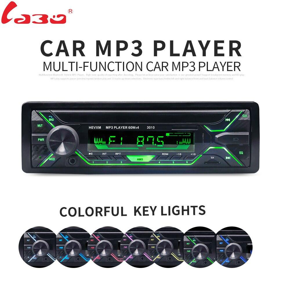 Labo автомобиля Радио стерео-плеер Bluetooth телефон Aux-в MP3 FM/USB/1 DIN/пульт дистанционного управления 12 В Аудиомагнитолы автомобильные авто 2018 распродажа новых