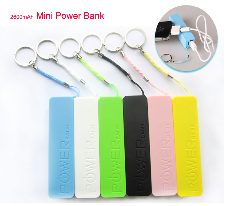 Recommend Mini candy color 2600mAh Power Bank with portable External Battery Pack powerbank for mobile phone for outdoors 70g