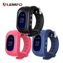 Получить скидку LEMFO Q50 детские часы анти потерял часы детские с gps и с сим картой на русском SOS вызова умные часы для детей вызова Расположение смарт часы детские