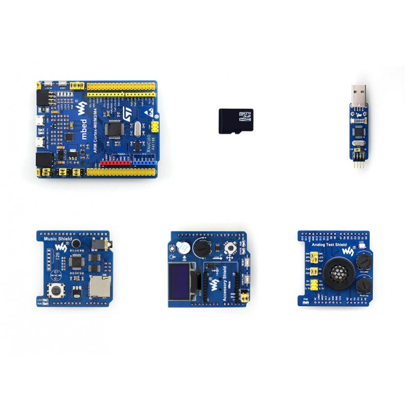 US $78 59 |XNUCLEO F411RE Pack B STM32 Development Board + 3 Shields (OLED,  RTC, AD/DA, Audio Codec    ) + ST LINK Compatible with NUCLEO-in Demo