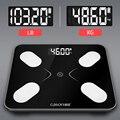 S3 Напольные Весы напольные электронные с ЖК-дисплеем цифровые весы для ванной баланс Bluetooth приложение для Android или IOS