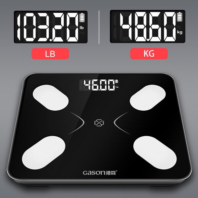 S3 Grasso Corporeo Bilancia Pavimento Scientifica Smart LCD Elettronico Digitale del Peso di Bagno Equilibrio Bluetooth APP Android o IOS