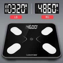 S3 escala de gordura corporal piso científico inteligente eletrônico lcd digital peso banheiro equilíbrio bluetooth app android ou ios