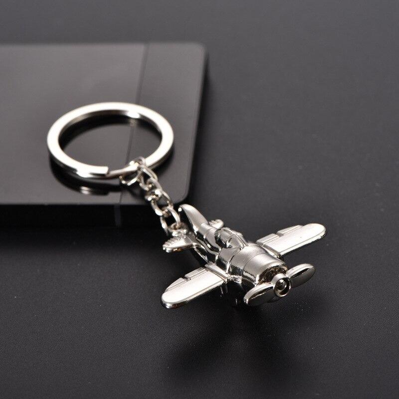 Keychain Propeller Aeroplane Aviator Metal Pendant Charm