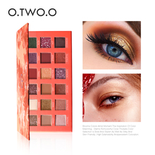 O.TWO.O Brand 18 Colors Shimmer Eyeshadow Palette Classic Ocean Mystery Eye Shadow Waterproof Long Lasting Cosmetic