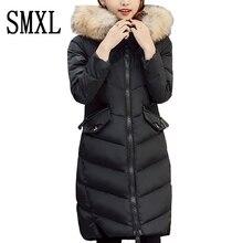 smxl Ultra keep Warm new down jackets Snow winter white duck down x-long Outerwear female coats real hair Fur Collar Parkas