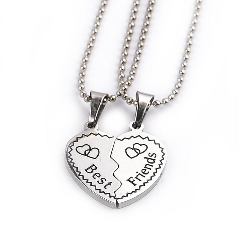 Broken Heart Pendant Necklaces Friendship Gifts Chain