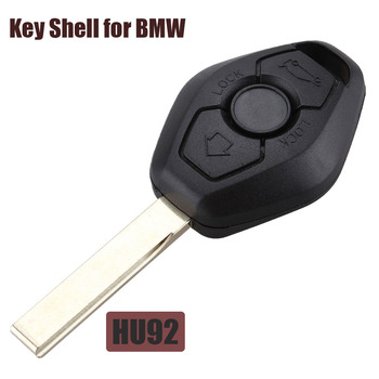 3 Button Car Remote Key Case Shell For BMW X3 X5 Z3 Z4 1/3/5/7 Series Unut Hu92 Blade Remote Car Key Cover Fob image