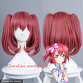 High Quality Short 35CM Red Straight Ruby Kurosawa Wig LoveLive!Sunshine!! Love Live Synthetic Hair Anime Cosplay Wig Cos Wigs