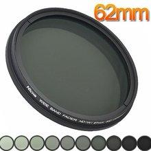 Переходное кольцо для объективов Fotga фейдер nd-фильтр регулируемый от ND2 для ND400 ND2-ND400 MC Pro мульти-фильтр с покрытием объектива 62 мм с наружной резьбой