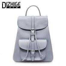 Dizhige бренд известный сплошной черный Для женщин рюкзак drawstring Школьный Рюкзак Для Подростка Обувь для девочек из искусственной кожи рюкзак Для женщин рюкзак