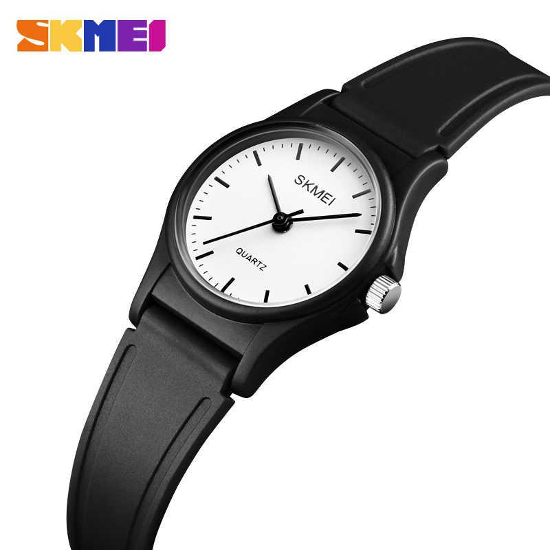 SKMEI мода PU ремень Детские часы водонепроницаемые девушки принцесса кварцевые наручные детские спортивные часы reloj Montre fille