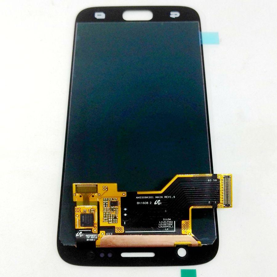 Amoled testé bon pour Samsung Galaxy S7 G930 G930F G930A G930V G930P LCD avec verre tactile ensemble complet pour l'affichage de réparation