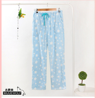 Female Flannel Lounge Pants Coral Fleece Pajama Pants Autumn And Winter Thermal Living Pants Thickening Sleepwear
