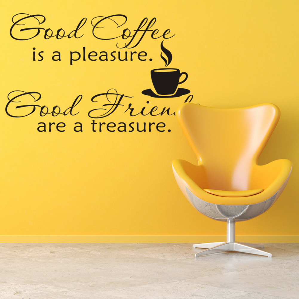 Wall Stickers Good Coffee Cups Kitchen Wall Sticker Quotes Decal Art ...