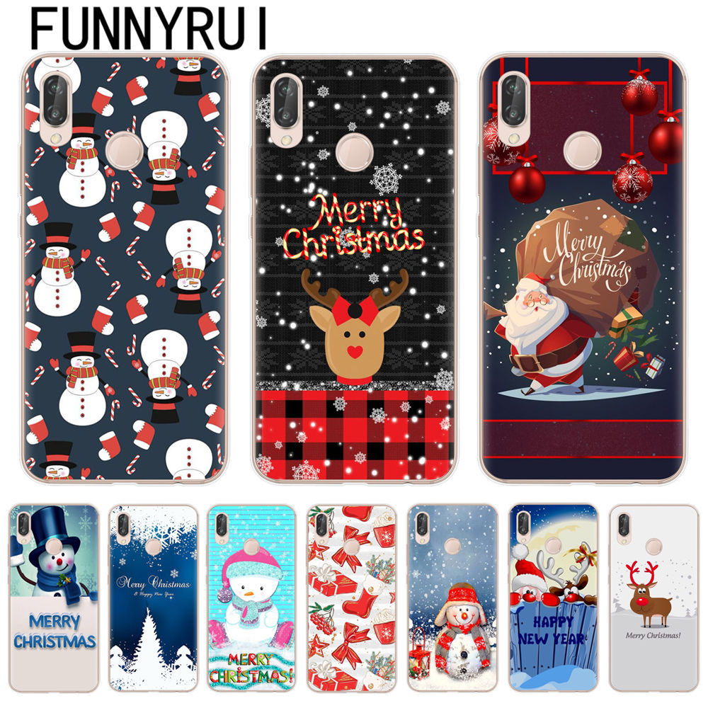 Merry Christmas For Cover Huawei Mate20 10 P20 Lite Pro P10 P8 P9 ...