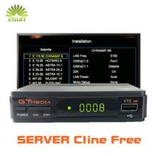 1 год Европа Cline in Freesat/GT медиа V7S HD с бесплатным wifi USB FTA DVB S2 спутниковый ТВ приемник обновления Freesat V7 HD 1080P