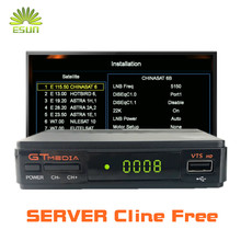 1 Year Europe Cline in Freesat/GT media V7S HD With Free WIFI USB FTA DVB S2 satellite tv receiver upgrade Freesat V7 HD 1080P