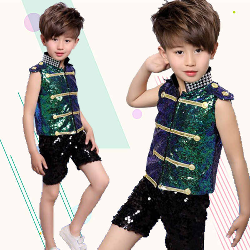 3dd250b8d ... New Year's Day Children's Jazz Dance Performance Glitter Girls Modern  Dance Puff Dresses Costumes Children's Catwalk ...