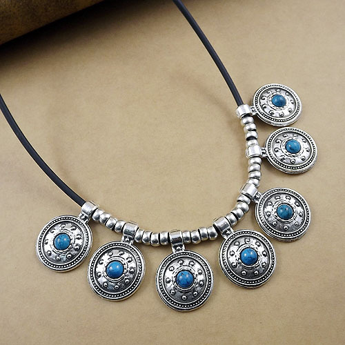 Fashion classic retro charm women present DIY flower necklaces wholesale silver jewelry free shipping.