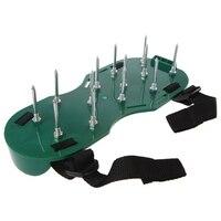 1 쌍 정원 야드 잔디 경작자 scarification 잔디 통풍기 네일 신발 도구|정원 경운기|   -