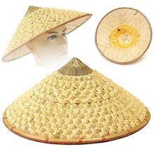 Супер-вьетнамская японская крутая соломенная бамбуковая конусная шляпа от солнца садовая фермерская Рыбалка